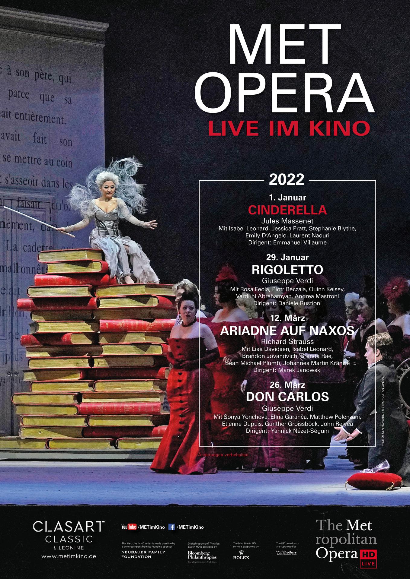Met Opera 2021/22 Live: Jules Massenet CINDERELLA