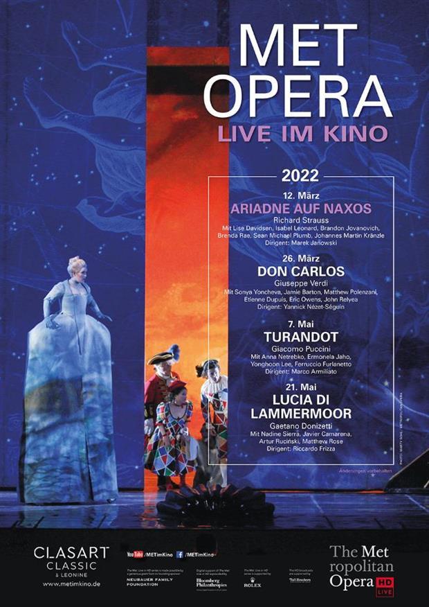 Met Opera 2021/22 Live: Richard Strauss ARIADNE AUF NAXOS